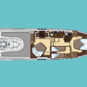 Azimut 55 luxusnyaralás,  yacht bérlés,  Horvátország hajóbérlés,  hajó bérlés