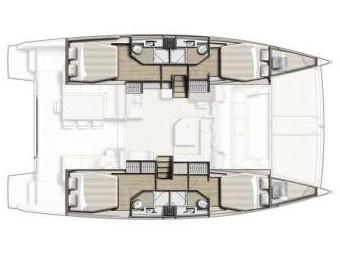 Bali 4.3 katamarán ,  katamarán bérlés Horvátországban,  luxusnyaralás,  Horvátország hajóbérlés