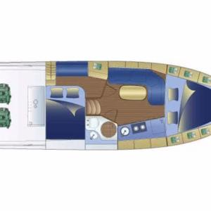 Bavaria 32 Sport motoros hajó bérlés az Adrián,  luxusnyaralás,  hajóbérlés Horvátország,  motoros hajó bérlés