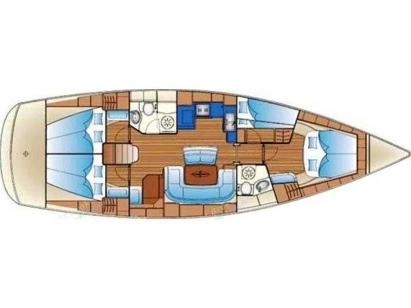 Bavaria 46 Cruiser vitorlás ,  hajóbérlés az Adrián,  luxusnyaralás,  Adriai tenger