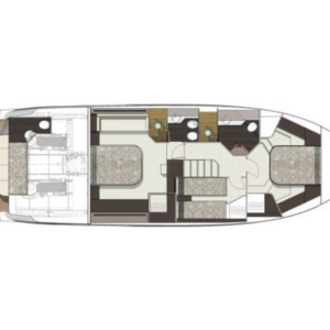 Cranchi E 52 F Evoluzione hajóbérlés az Adrián,  Adria,  yacht bérlés,  Horvátország hajóbérlés