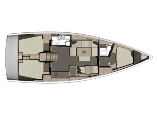 Dufour 412 Grand large vitorlás ,  vitorlás bérlés,  Horvátország hajóbérlés,  Adriai tenger