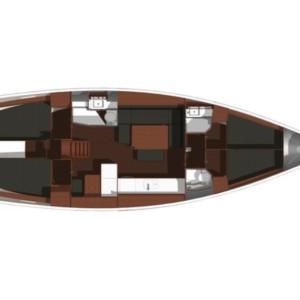 Dufour 450 Grand Large vitorlás bérlés Horvátországban,  hajóbérlés az Adrián,  hajóbérlés,  Horvátország hajóbérlés