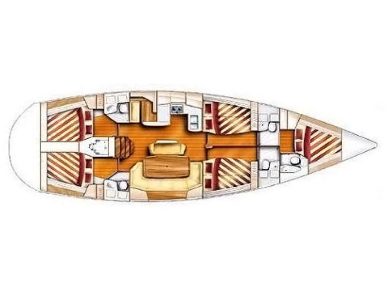 Gib Sea 51 hajóbérlés,  yacht bérlés,  hajóbérlés Horvátország,  hajóbérlés Adria