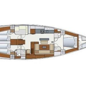 Hanse 575 Horvátország,  hajóbérlés,  hajóbérlés Horvátország,  hajóbérlés Adria