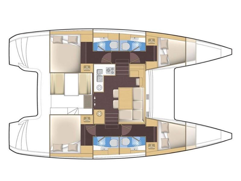 Lagoon 39 katamarán bérlés Horvátországban,  luxusnyaralás,  yacht bérlés,  Adriai tenger
