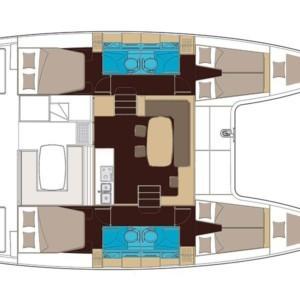 Lagoon 400 S2 hajóbérlés az Adrián,  Horvátország,  Adria,  hajóbérlés Horvátország