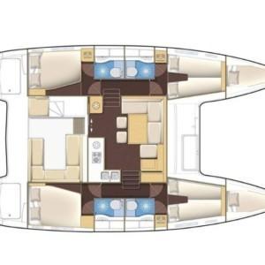 Lagoon 400 S2 Horvátország,  luxusnyaralás,  hajóbérlés Horvátország,  katamarán bérlés