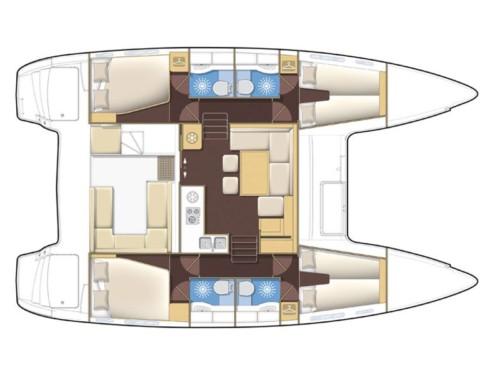 Lagoon 400 S2 katamarán bérlés az Adrián,  hajóbérlés az Adrián,  hajóbérlés Adria,  Adriai tenger