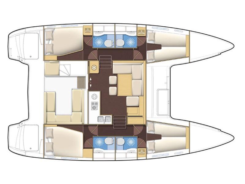 Lagoon 400 S2 katamarán bérlés,  hajóbérlés,  hajóbérlés Adria,  Adriai tenger