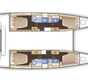 Lagoon 42 Adria,  luxusnyaralás,  hajóbérlés Horvátország,  hajóbérlés Adria