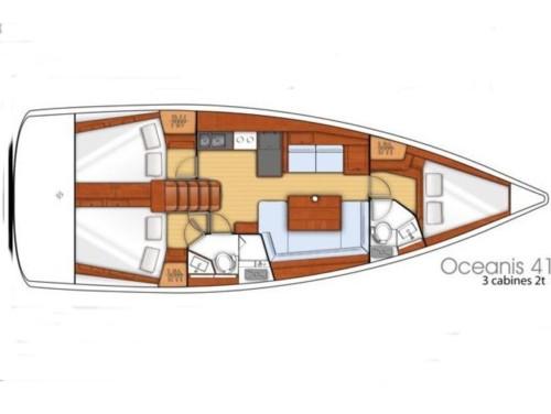 Oceanis 41 hajóbérlés az Adrián,  luxusnyaralás,  yacht bérlés,  Horvátország hajóbérlés