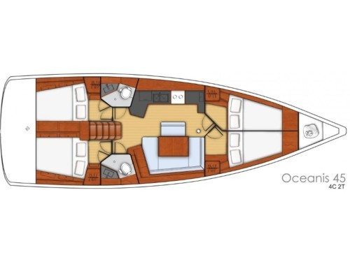 Oceanis 45 vitorlás ,  luxusnyaralás,  hajóbérlés Horvátország,  Adriai tenger