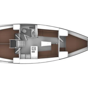 Bavaria Cruiser 37 vitorlás bérlés az Adrián,  luxusnyaralás,  Horvátország hajóbérlés,  vitorlás bérlés