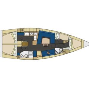 Elan 444 Impression vitorlás bérlés az Adrián,  Adria,  yacht bérlés,  Horvátország hajóbérlés